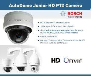 Camera IP AutoDome HD PTZ Serie 800 da Bosch