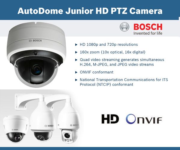 Camera IP AutoDome HD PTZ Serie 800 da Bosch