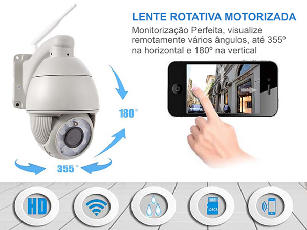 Camera IP exterior rotativa WIFI – Ennio Security